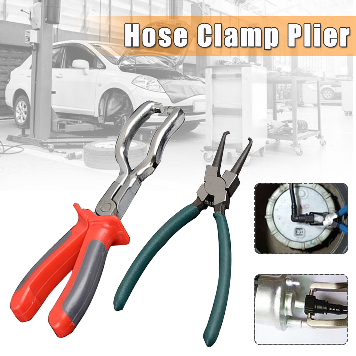 7 Inch / 9 Inch Joint Clamping Pliers Fuel Filters Hose Pipe Buckle Removal Caliper For Car Auto Vehicle Tools
