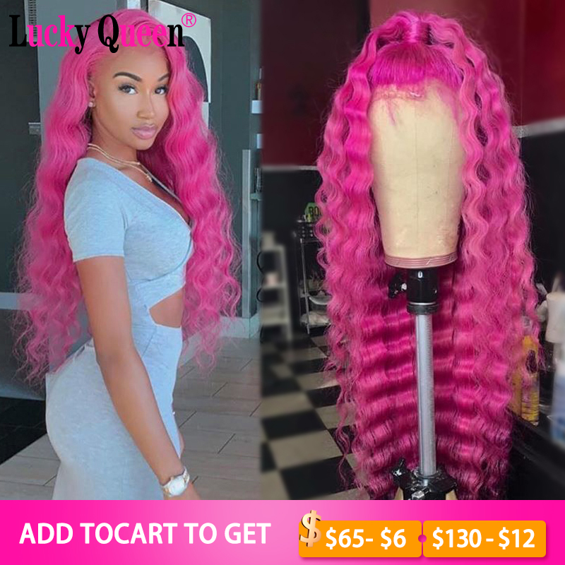 613 Blonde Brazilian Deep Wave 13x4 Lace Wigs Remy Hair 150% Density Lace Front Human Hair Wigs Lucky Queen Wigs