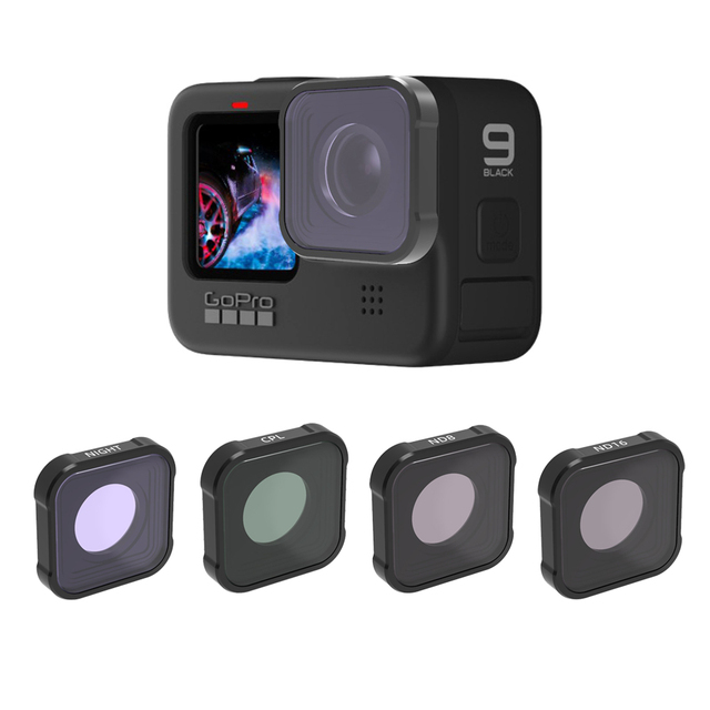 Hero 9 action Camera Lens Filters Set UV CPL ND4/8/16/32/64 Star Night Diving pink red for GoPro Hero 9 black Filter Accessorie