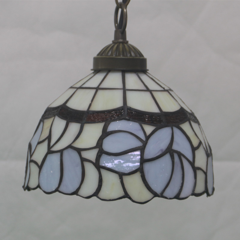European Porch Balcony Creative Retro Tiffany Stained Glass Living Room Bedroom Bedside Hotel Restaurant Chandelier Lustre