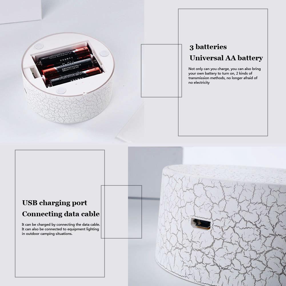 Световая База держатель лампы современный 3D домашний внутренний дисплей Свадебный декор трещины узор Сенсорная лампа база орнамент подарок