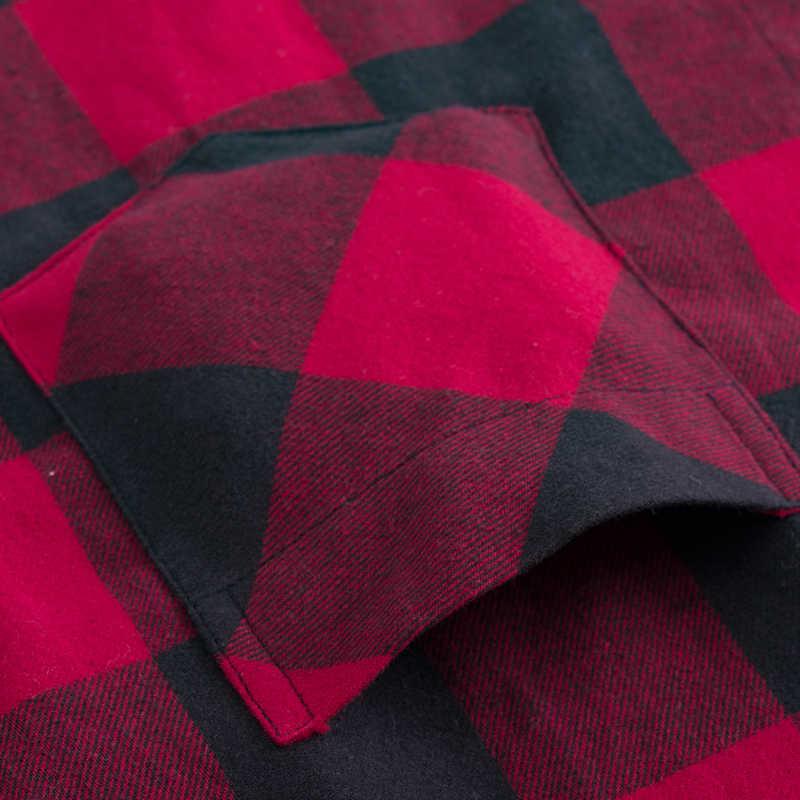 남자 패션 야외 격자 무늬 닦 았된 플 란 넬 셔츠 단일 포켓 긴 소매 슬림 맞는 젊음 캐주얼 체크 무늬 코 튼 셔츠
