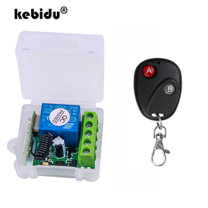 kebidu RF 433 Mhz Remote Controls Transmitter with Wireless Remote Control Switch DC 12V 1CH relay Receiver Module