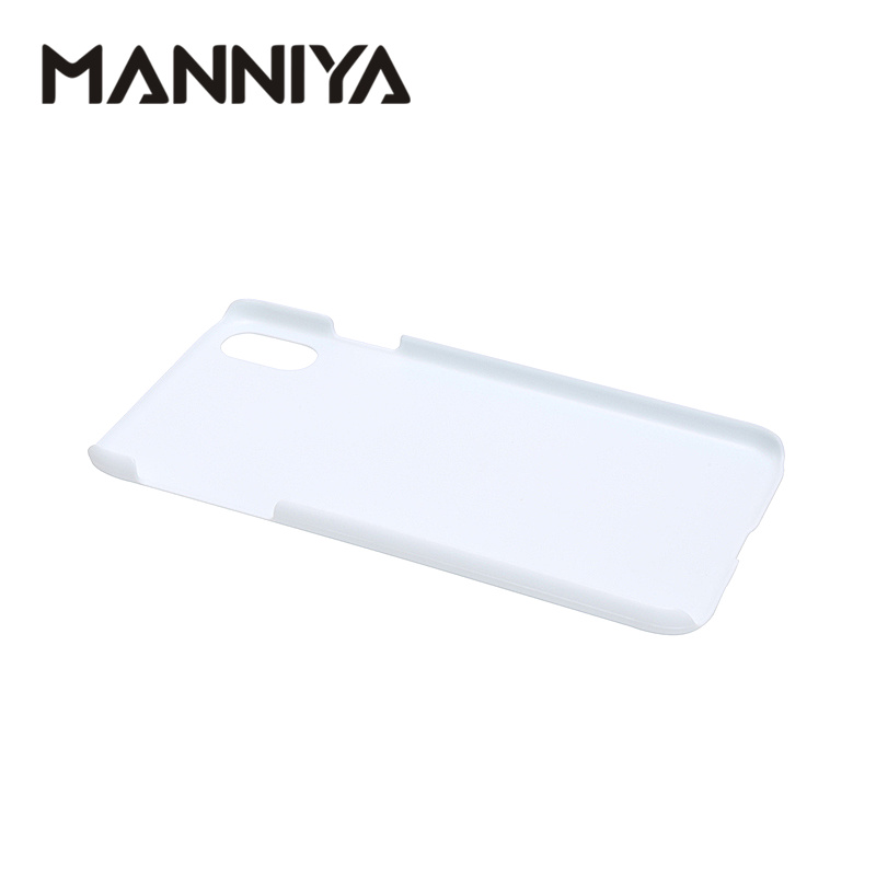 Image 2 - MANNIYA 3D Sublimation Blank white Phone Cases for iphone XS Max Free Shipping! 100pcs/lot-in Half-wrapped Cases from Cellphones & Telecommunications