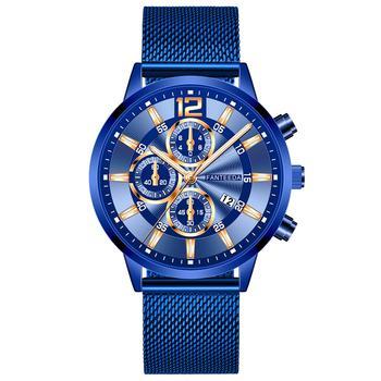 Relogio Masculino Men's Fashion Casual Calendar Watches Stainless Steel Mesh Band Watch Men Business Luminous Quartz Wrist Watch цена 2017