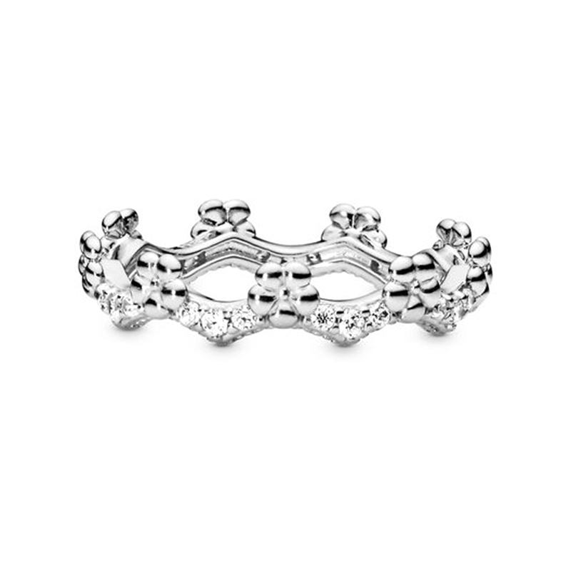 BRACE CODE  Original European Crown Crystal Ring Woven Wish Bones Beautiful Ring Wedding Jewelry Direct sales