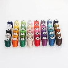 40 fios do filamento da linha 550yd do bordado do poliéster sheen de grande resistência para o irmão/babylock/linha da casa de costura da máquina de janome