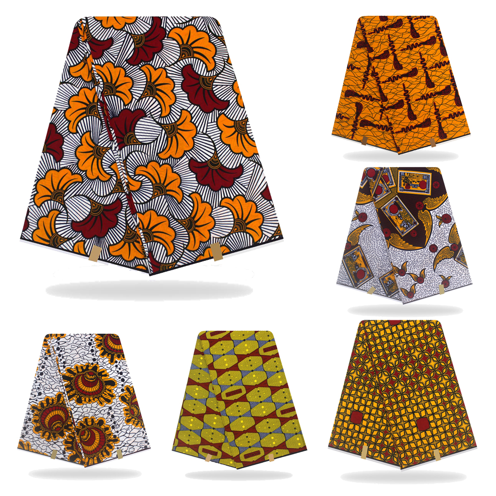 New 100% Cotton Original Real Wax Ankara Fabric 2019 African Print Fabric For Wedding Dress Tissue African Fabric Wax Fabric