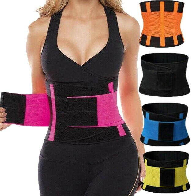 Women Sport Waist Support Trainer Shapewear Sweat Belt Waist Cincher Yoga Gym Body Building Shaper