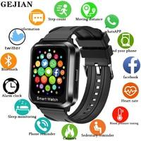 GEJIAN Smart Watch uomo Bluetooth chiamata auricolare Wireless 2 in 1 cardiofrequenzimetro Smartwatch uomo per Android Ios