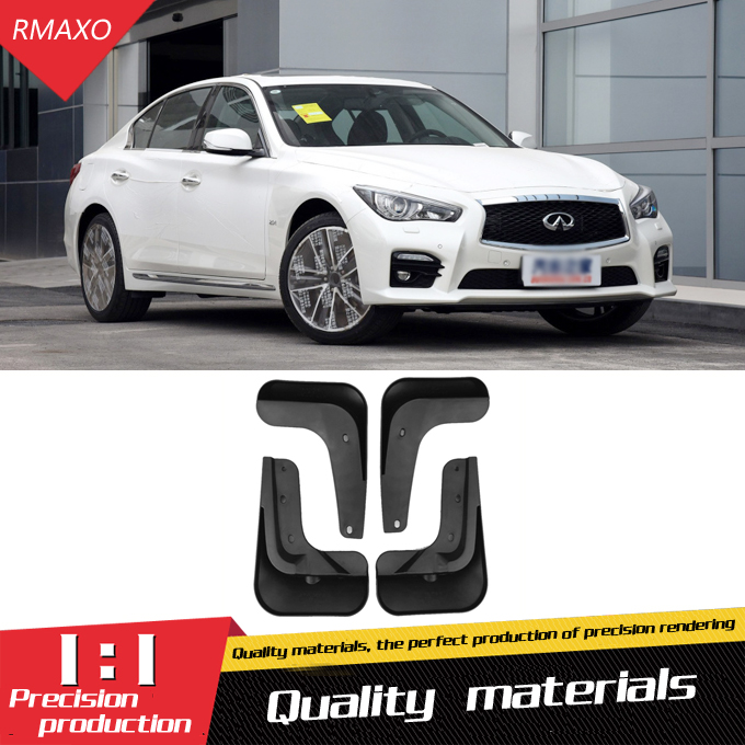 For INFINITI Q50 2015 2018 Mudflaps Splash Guards Front With the color and rear Mud Flap Mudguards Fender Modified special|Mudguards| |  - title=