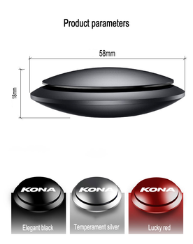 For Hyundai kona accessories Car Air Freshener Instrument Seat Aromatherapy Car-styling Flavor Car Perfume UFO Shape Scent Decor image