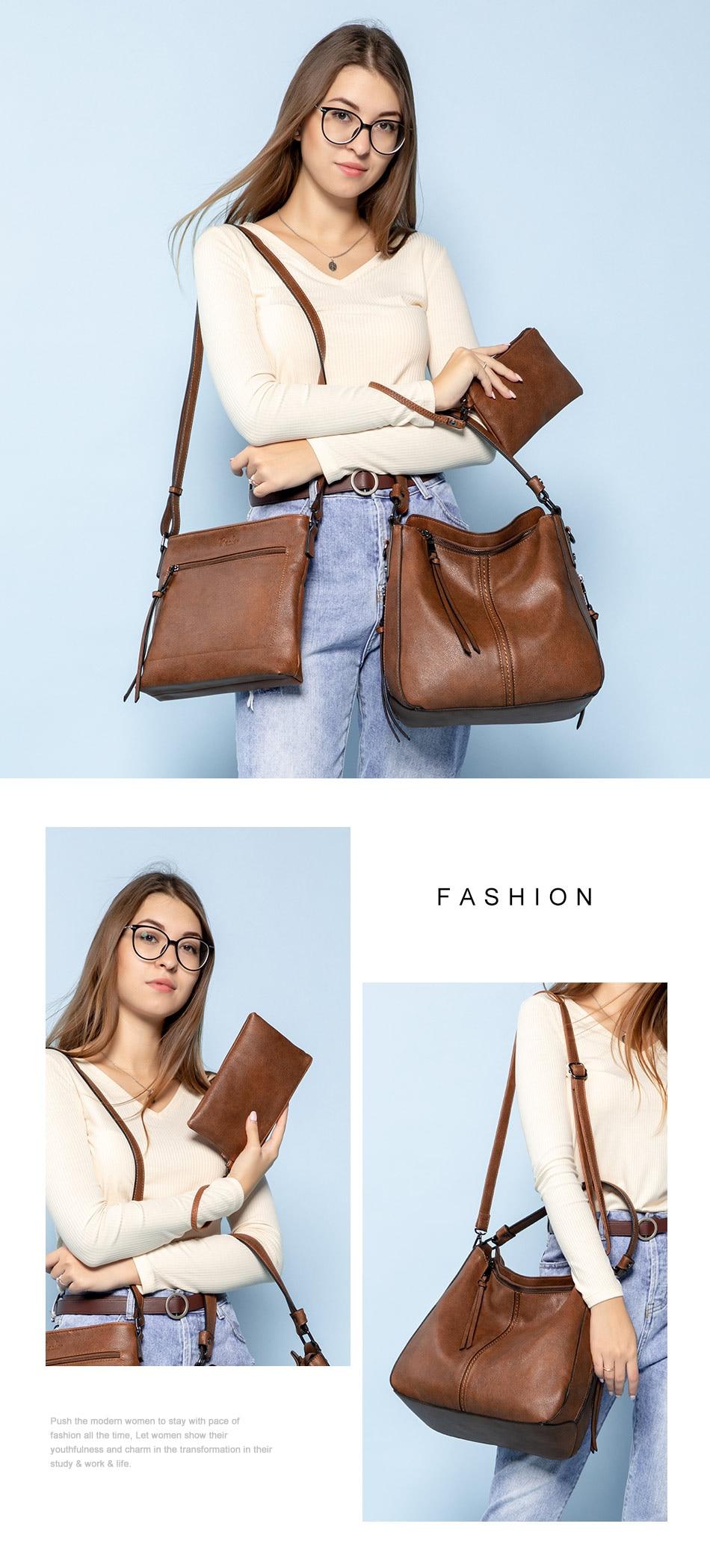 Mais real conjunto bolsa feminina designer de