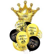 10 pçs conjunto de balões de ouro preto cheers para 18 30 40 50 60 anos decoração da festa de aniversário balão látex decorações do chuveiro do bebê