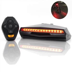 Wasafire laser de controle remoto sem fio led luz traseira da bicicleta usb recarregável luz traseira luz advertência segurança noite inteligente
