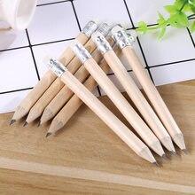 100 шт./лот 3,5 дюймов, деревянный ластик для карандашей, студенческие школьные канцелярские принадлежности, экологичный круглый карандаш для ...