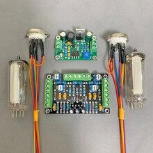 DC12V المزدوج قناة ستيريو 6E2 أنبوب مؤشر لوحة للقيادة مستوى مؤشر مكبر للصوت لتقوم بها بنفسك الصوت الفلورسنت