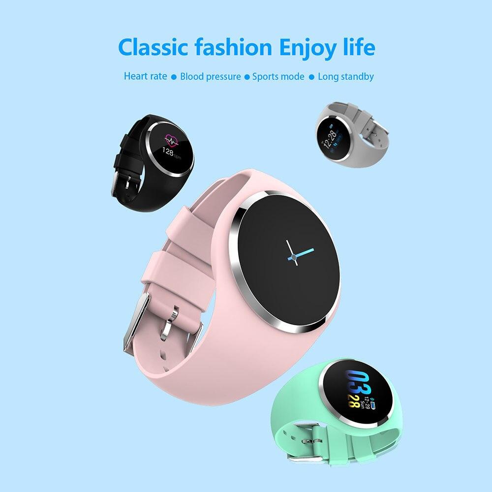 Q1 Bluetooth montre intelligente hommes femmes acier inoxydable étanche dispositif portable Smartwatch Bracelet passomètre pour xiomi IOS
