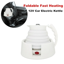 12V/24V 450Ml Portable Travel Foldable Camping Electric Water Kettle-Car Folding Heating Cup Coffee/Tea/Milk Pot