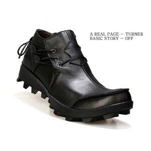 Image 4 - Echtes Leder Männer schuhe Casual Classic Boat Schuhe Handgemachte Fahr Schuhe Bequeme Turnschuhe Ankle Stiefel Müßiggänger Männer mokassin