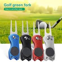 Mini outil Divot de Golf pliable, avec outil de balle de Golf, nettoyeur de rainure de pas, aides à l'entraînement de Golf, accessoires de Golf, mise de fourchette verte