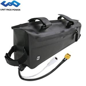 48V 14Ah 12Ah 10Ah Waterproof Triangle Bag eBike Battery 672Wh Samsung Cell Batteries for 1000W 750W 500W Bafang TSDZ2 Engine