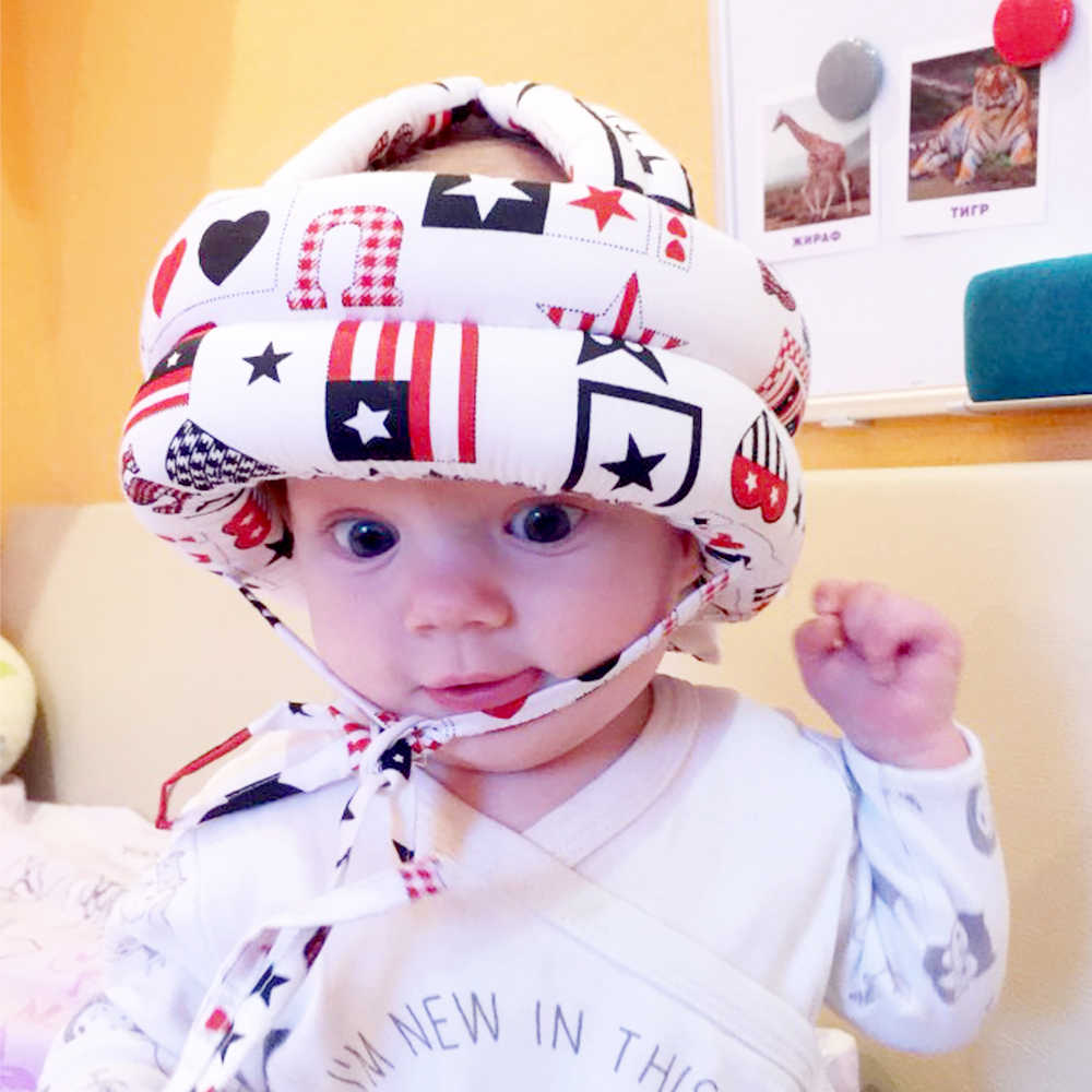 Baby Hat Protective Hat Anti-collision Toddler Cap Soft Comfortable Head Security Protection Cap Adjustable Kid Safety Helmet