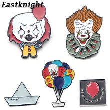 L2985 Horror Movie Ghost Het Clown Emaille Pin Broches Cartoon Metal Broche Pins Denim Hoed Badge Kraag Sieraden 1 Pcs(China)