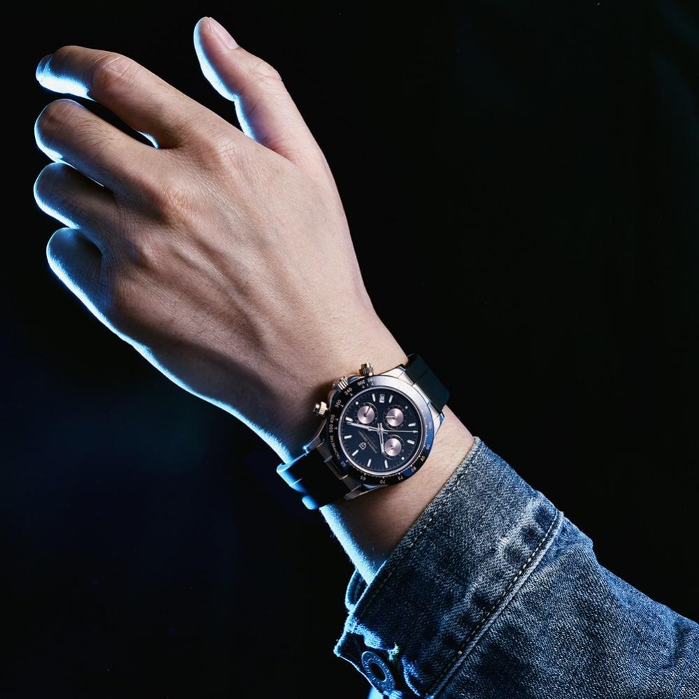 2020 New PAGANI DESIGN Mens Quartz Watches Automatic Date Luxury Gold Wristwatch Men Waterproof Chronograph Japan seiko VK63 Clock man dropshipping (23)