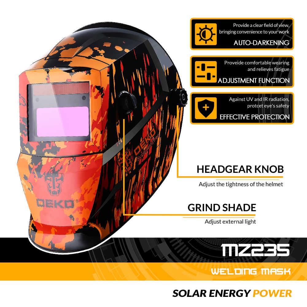 DEKO الأسود النار الشمسية السيارات سواد MIG MMA قناع لحام كهربائي/خوذة/لحام عدسة ل آلة لحام أو البلازما القاطع