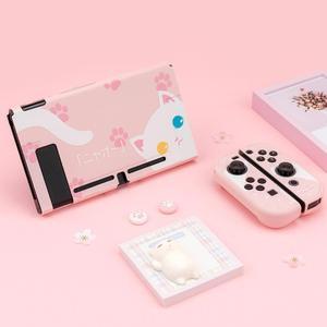 Image 2 - สำหรับ Nintendo สวิทช์ NS Joy CON Controller กรณีน่ารัก PC Shell ชุดสวิทช์คอนโซลอุปกรณ์เสริม