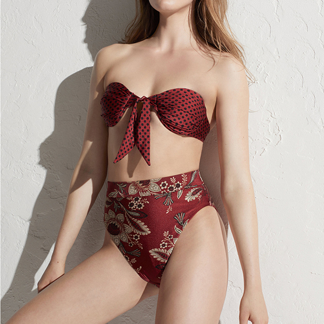 Sommer Bikini Stickerei Bademode Push-Up Badeanzug für Frauen 2