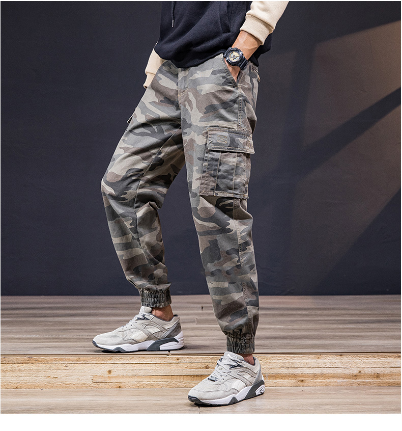 KSTUN Cargo Pants Men 100% Cotton Baggy Military Pants Khaki Camouflage Pants Casual Man Trousers Loose fit Streetwear Men Joggers 11