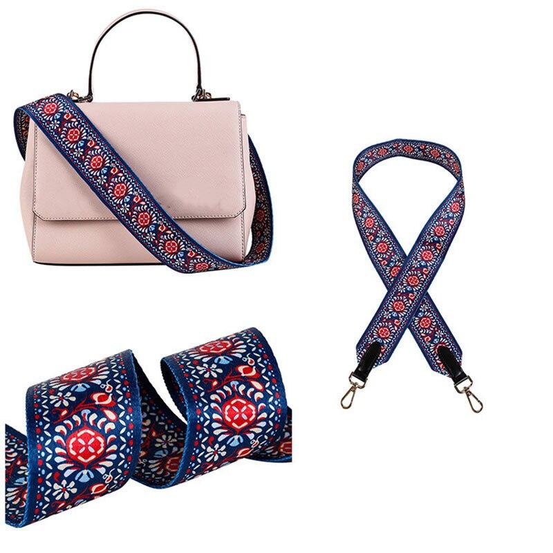 Obag Printed Ethnic Shoulder Strap Crossbody Accessories Wide Shoulder Strap Adjustable Replacement Belt Canvas Bag Strap New