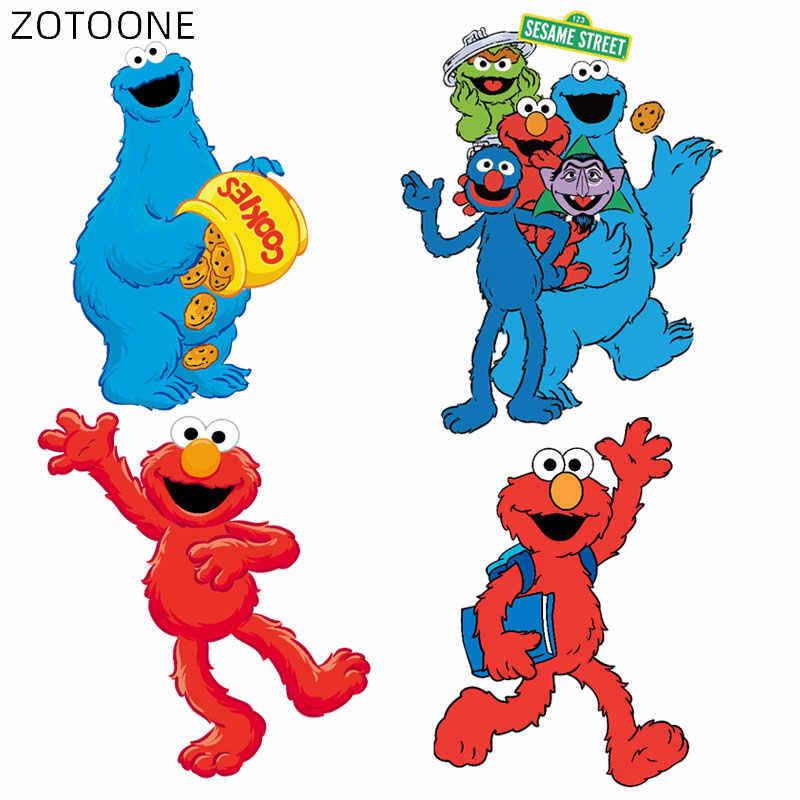 Zotoone Cartoon Monster Patches Voor Kids Iron On Anime Karakters Stickers Voor Kleding Diy Heat Transfers Vinyl Applicaties D