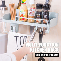 Kitchen Shelf Kitchen Cabinet Storage Rack Creative Multifunctional Economic 2 Colors Plastic Home Cook Tool Bathroom