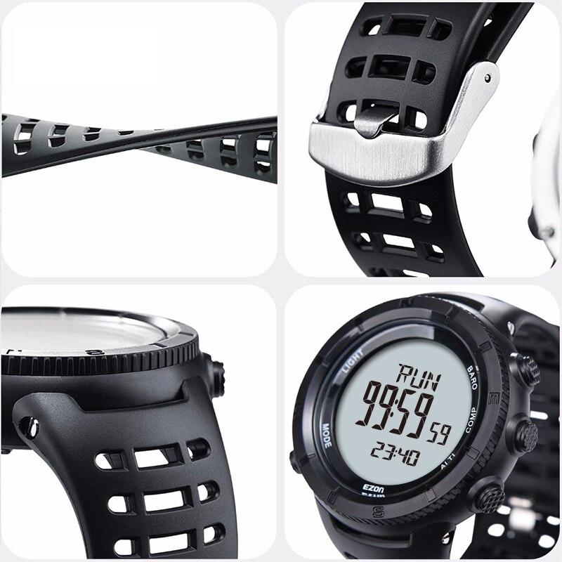 Reloj deportivo Digital EZON para hombre para exteriores para mujer, brújula de barómetro de altitud multifuncional para senderismo a prueba de agua-in Relojes deportivos from Relojes de pulsera    3