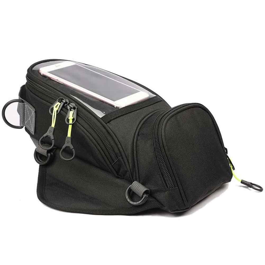 Motorcycle Tank Bag Riding Shoulder Bag Waterproof Strong Magnetic Navigation Fuel Tank Bag for Mobile Phone Navigation Oil Tank Bag