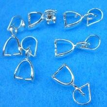 50 pçs jóias diy acessórios 925 prata esterlina gancho para colar descobertas & componentes 0.6*1.2cm