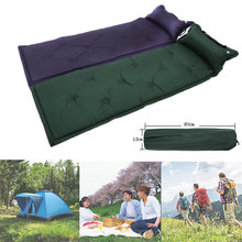 Outdoor Inflatable Camping Mat 1-2 Person Ultralight Inflatable Mattress Air bed Sleeping Pad Folding Air Mattress with pillow(China)