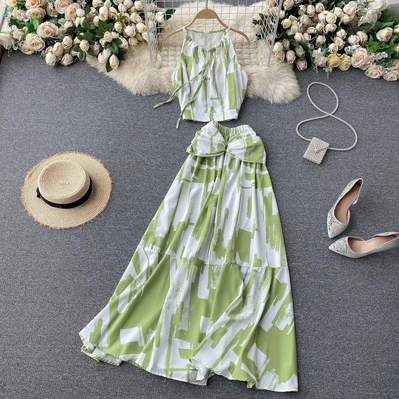 Two Piece Sets Woman Long Maxi Skirt 2