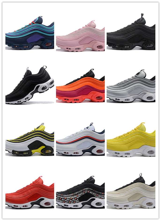 New Men's Shoes Classic 97 Running Shoes For Women Black White Sports Shoes Sports Shoes Breathable Cushion Men Sneakers