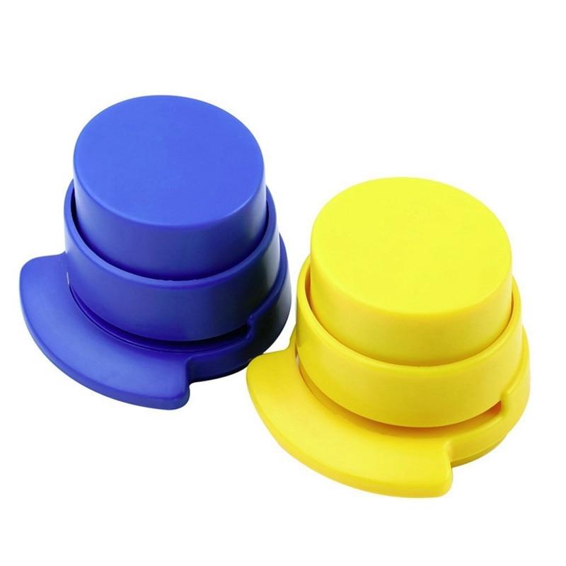 2 Pcs Office Staple Stapleless Stapler Home Paper Binding Binder Paperclip