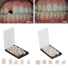 50Pcs/Box Dental Crowns Teeth Whitening Resin Porcelain Materials Temporary Teeth Realistic Oral Care Posterior  Molar Crown