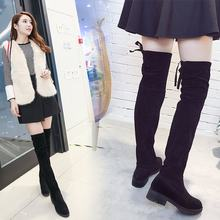 black long overknee boots women shoes woman botines mujer 2019 booties ladies shoe knee high boot winter(China)
