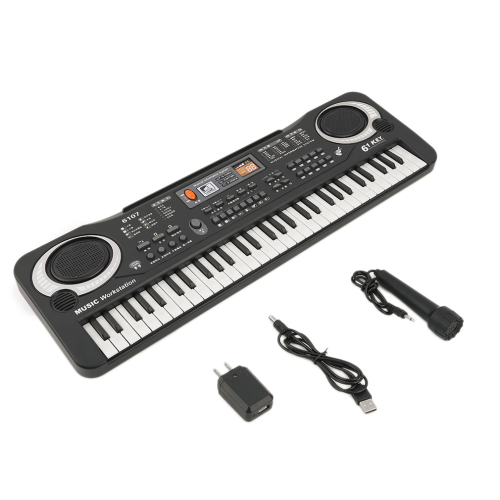 61 Keys <font><b>Digital</b></font> Music Electronic Keyboard Board Toy Gift Electric <font><b>Piano</b></font> Organ For Kids Multifunction And Delicate image