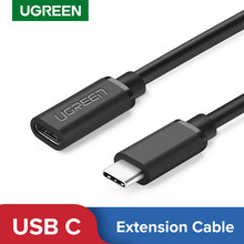 Ugreen USB Typ C Verlängerung Kabel Männlich zu Weiblich USB-C Extender Cord 4K Thubderbolt 3 Kabel für MacBook Pro nintendo Schalter