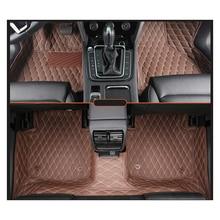 lsrtw2017 leather car interior floor mat for volkswagen passat b5 b5.5 b6 b7 b8 1997-2019 2018 2017 2016 2015 2014 rug carpet