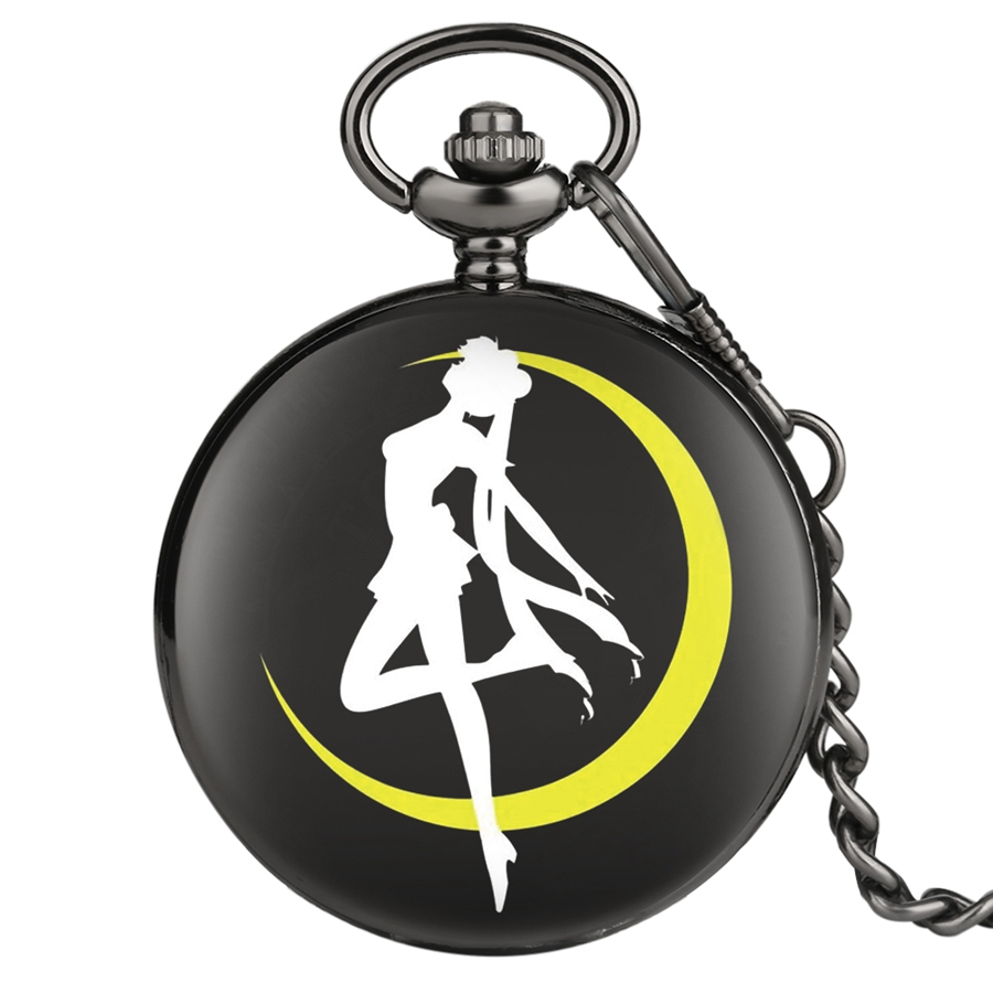 Customized Sailor Moon Quartz Pocket Watch For Children Vintage Pendant Girls Ladies Gifts Fob Pocket Watches Chain Dropshipping