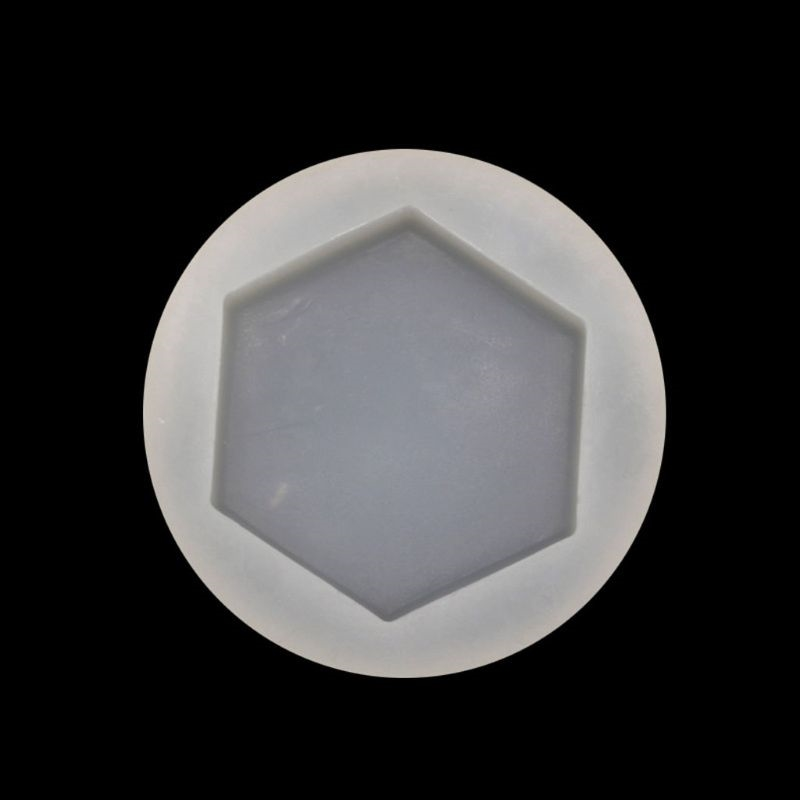 DIY Hexagon Bottom Trays Resin Silicone Mold Jewelry Making Tools Art Crafts